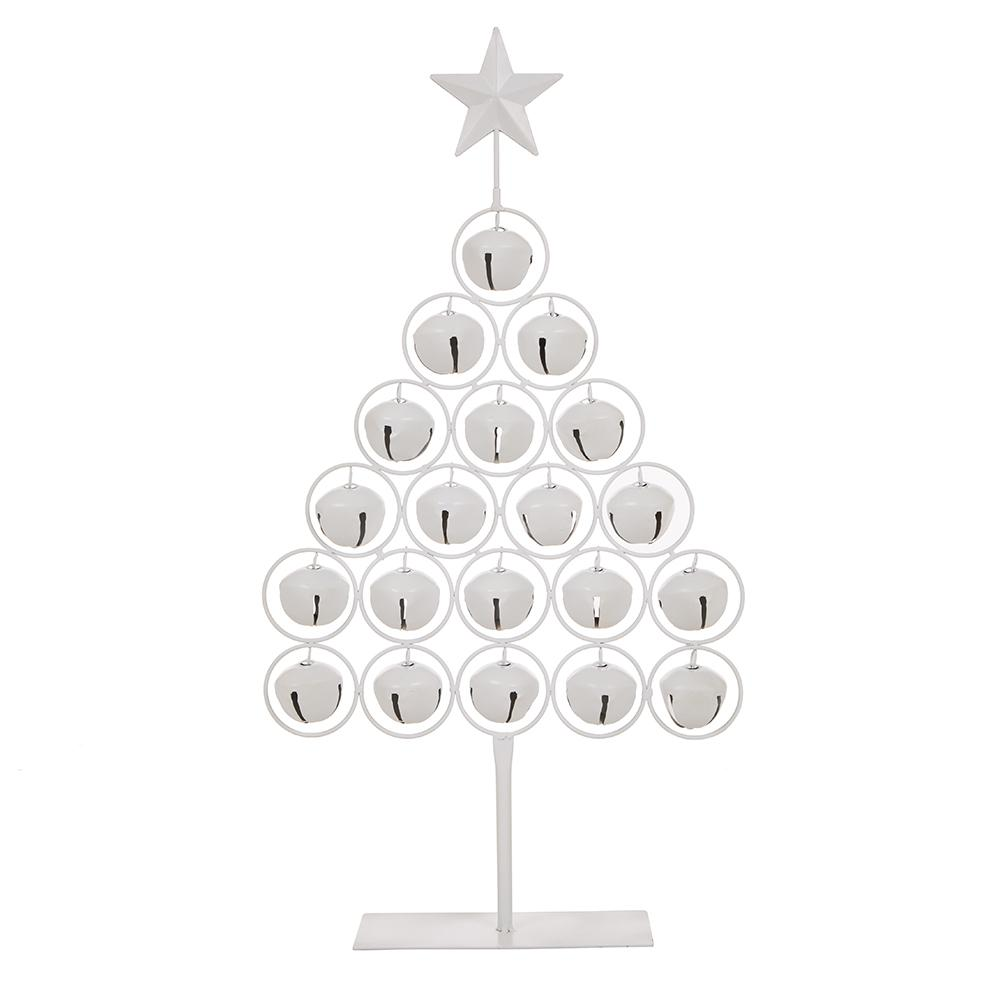 Christmas Bells Images.Glitzhome 24 2 In H Iron Bell Table Tree