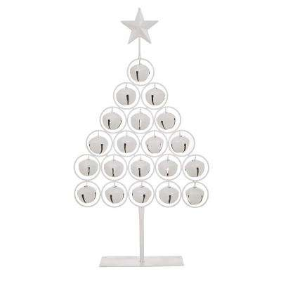 24.2 in. H Iron Bell Table Tree