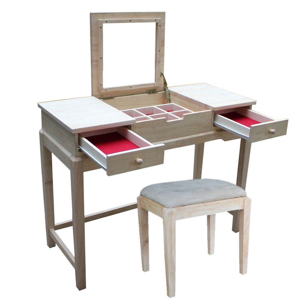 International Concepts 2 Piece Unfinished Vanity Set