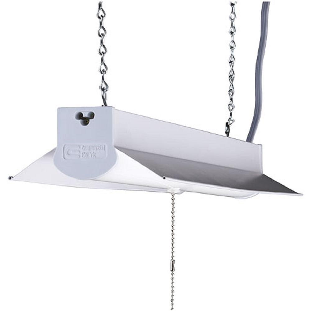 2 ft. White Integrate LED Linkable Shoplightw/ 5ft Linking Cord 18 Watt, 1600 Lumens, 4000K Bright White