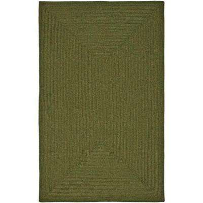 Braided Green 8 ft. x 10 ft. Area Rug