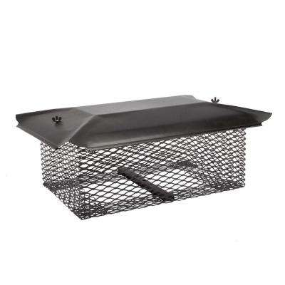 20-1/2 in. x 13 in. California Oregon Chimney Cap in Black Galvanized Steel