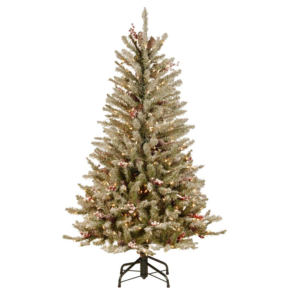 National Tree Company 4.5 ft. Dunhill Fir Slim Artificial ...