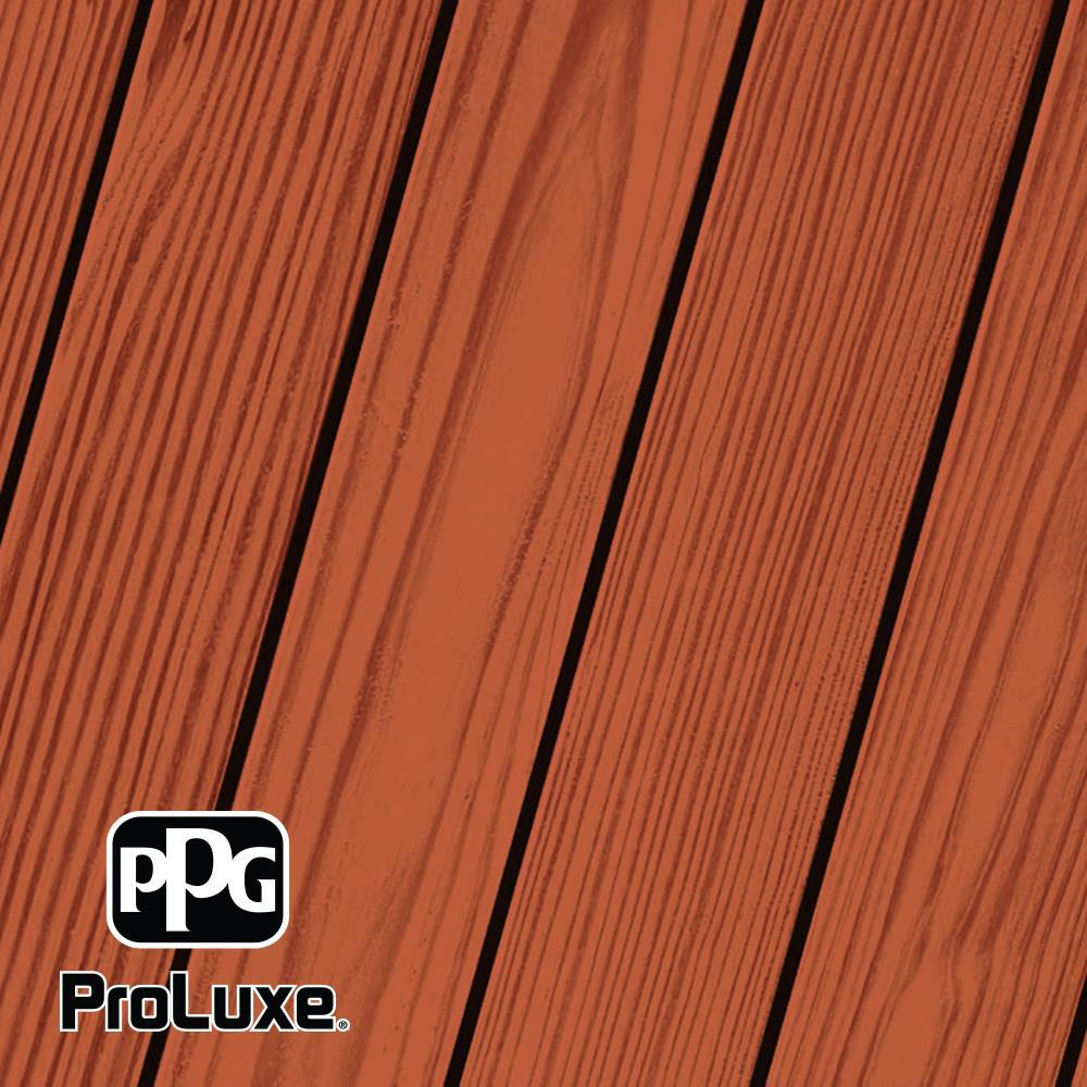 PPG ProLuxe 1 gal. Mahogany SRD Exterior Transparent Matte Wood Finish