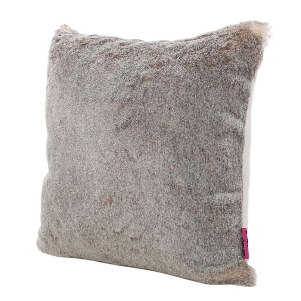 Lindsey Light Brown Polyester Fiber Standard Deco Pillow