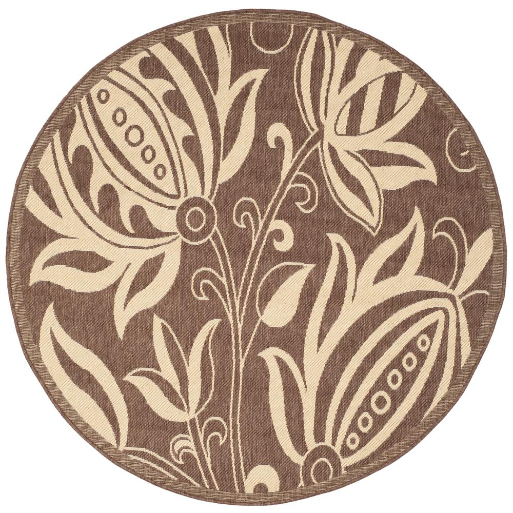 Courtyard Chocolate/Natural 5 ft. 3 in. x 5 ft. 3 in.