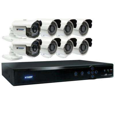 Aurora 16-Channel QR Cloud 960H Surveillance System with 1TB HDD and (2) 800 TVL Cameras and (6) 700 TVL Cameras