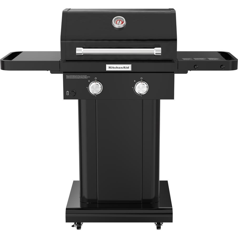 KitchenAid 2-Burner Propane Gas Grill in Black