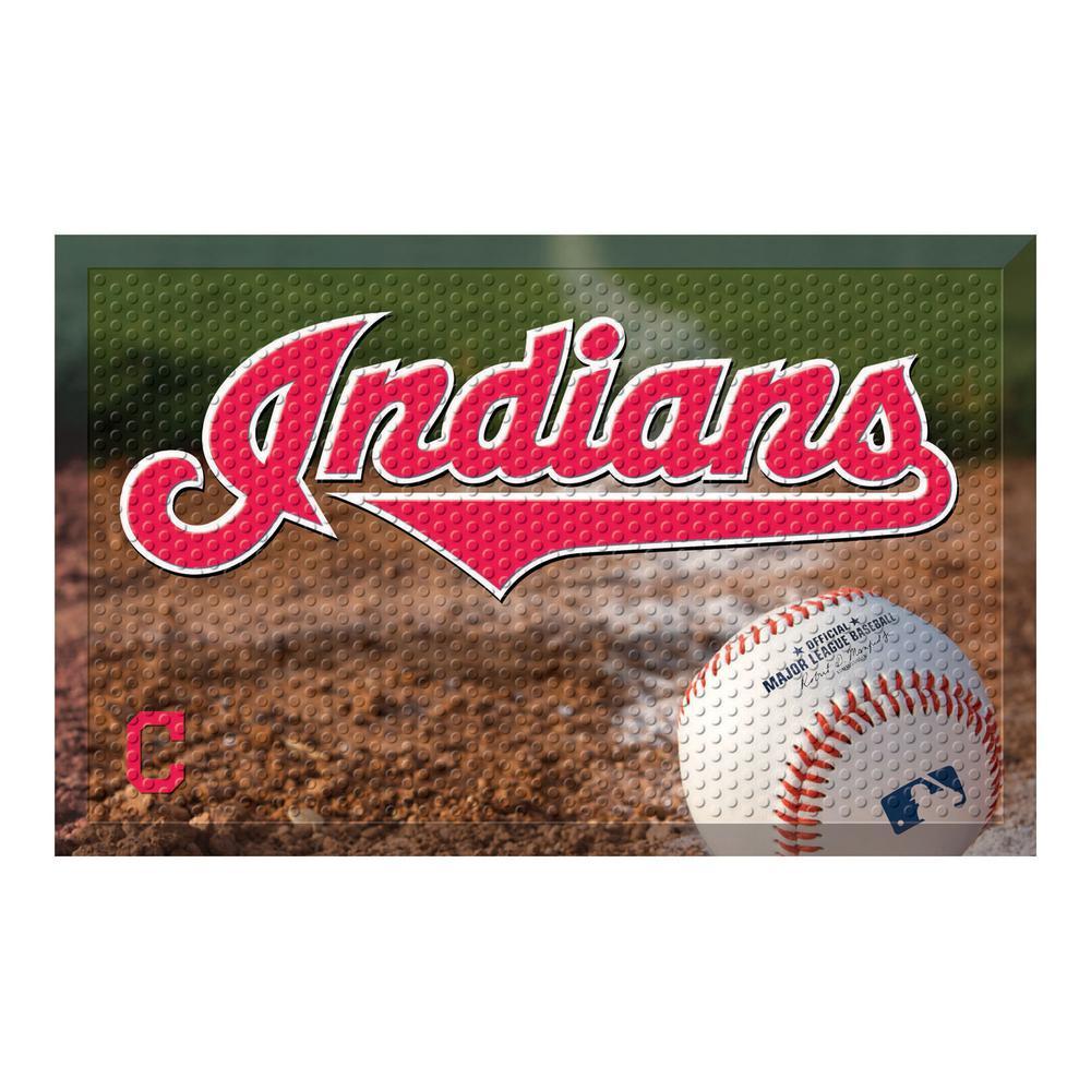 MLB - Cleveland Indians 19 in. x 30 in. Indoor/Outdoor Scraper Mat Door Mat