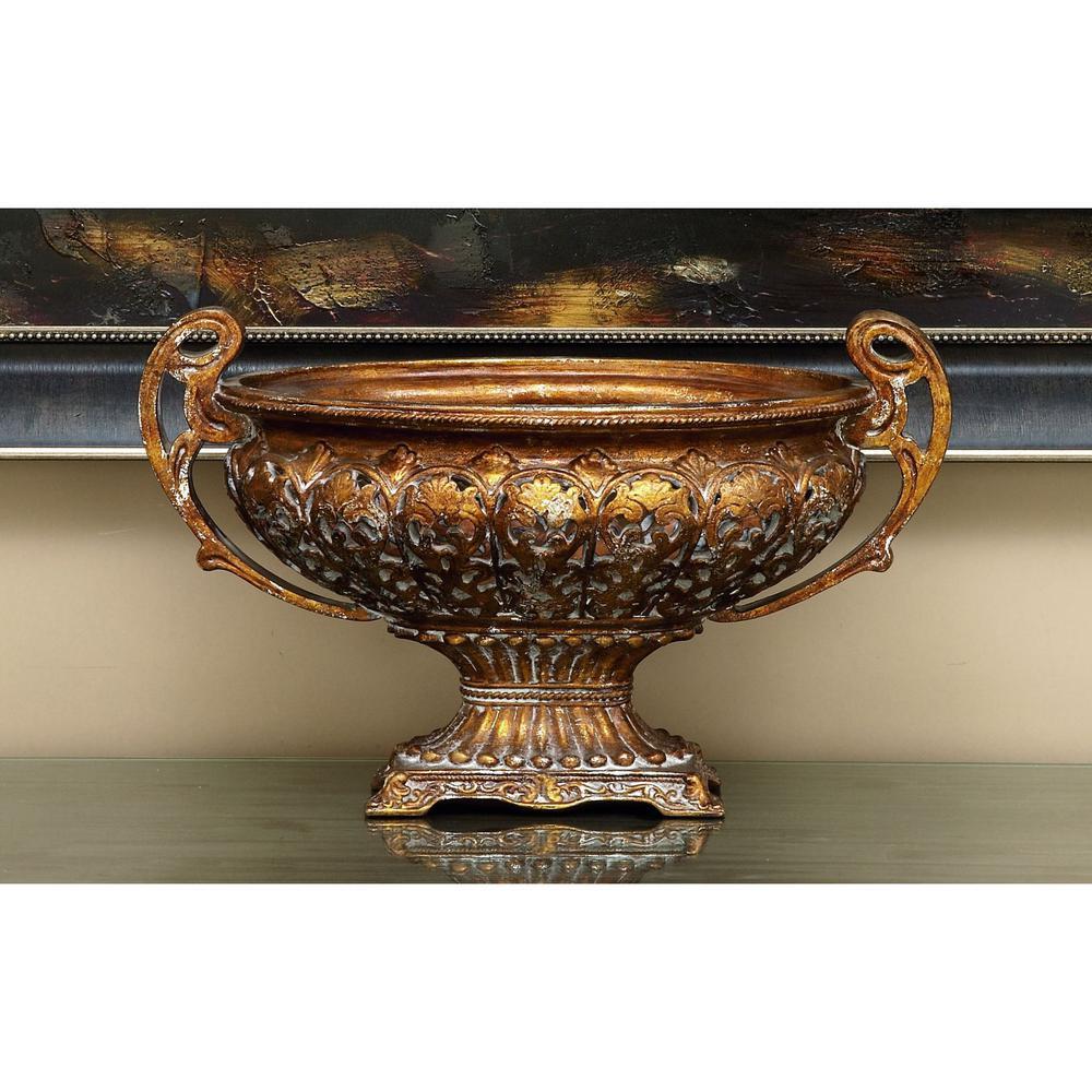 Litton Lane Pierced 19 In X 12 Decorative Bowl