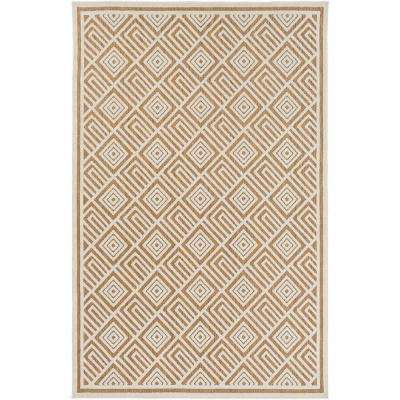 Ichoris Ivory 9 ft. x 12 ft. Indoor/Outdoor Area Rug