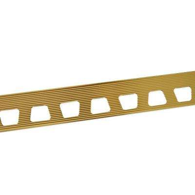 Bright Brass 27/64 in. x 8 ft. Aluminum Metal Cap Tile Edging Trim