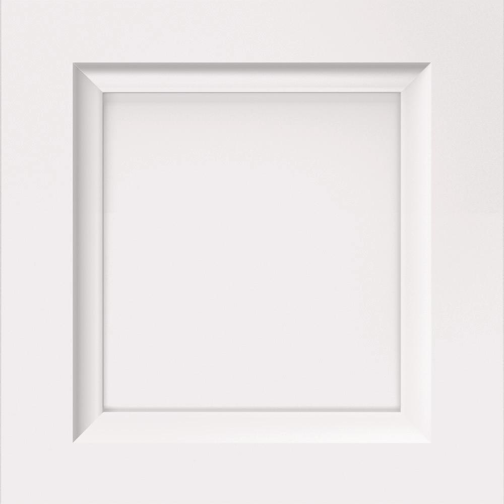 Thomasville Classic 14.5x14.5 in. Cabinet Door Sample in Russell Maple White