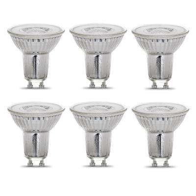 50-Watt Equivalent MR16 GU10 Dimmable CEC Title 20 Compliant LED 90+ CRI Flood Light Bulb, Bright White (6-Pack)