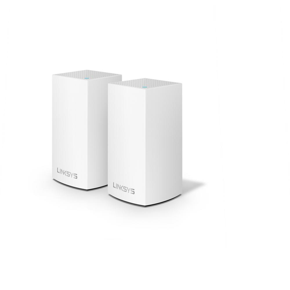 Linksys Velop Jr. Whole Home Mesh Wi-Fi System (Pack of 2) Velop with Intelligent Mesh Technology is an award-winning family mesh Wi-Fi system created to work seamlessly together. Mix and match nodes with different speeds to customize performance or interchange colors to coordinate with your home style. Regardless of shape, size or wherever your internet comes in, Velop can be customized to your home.