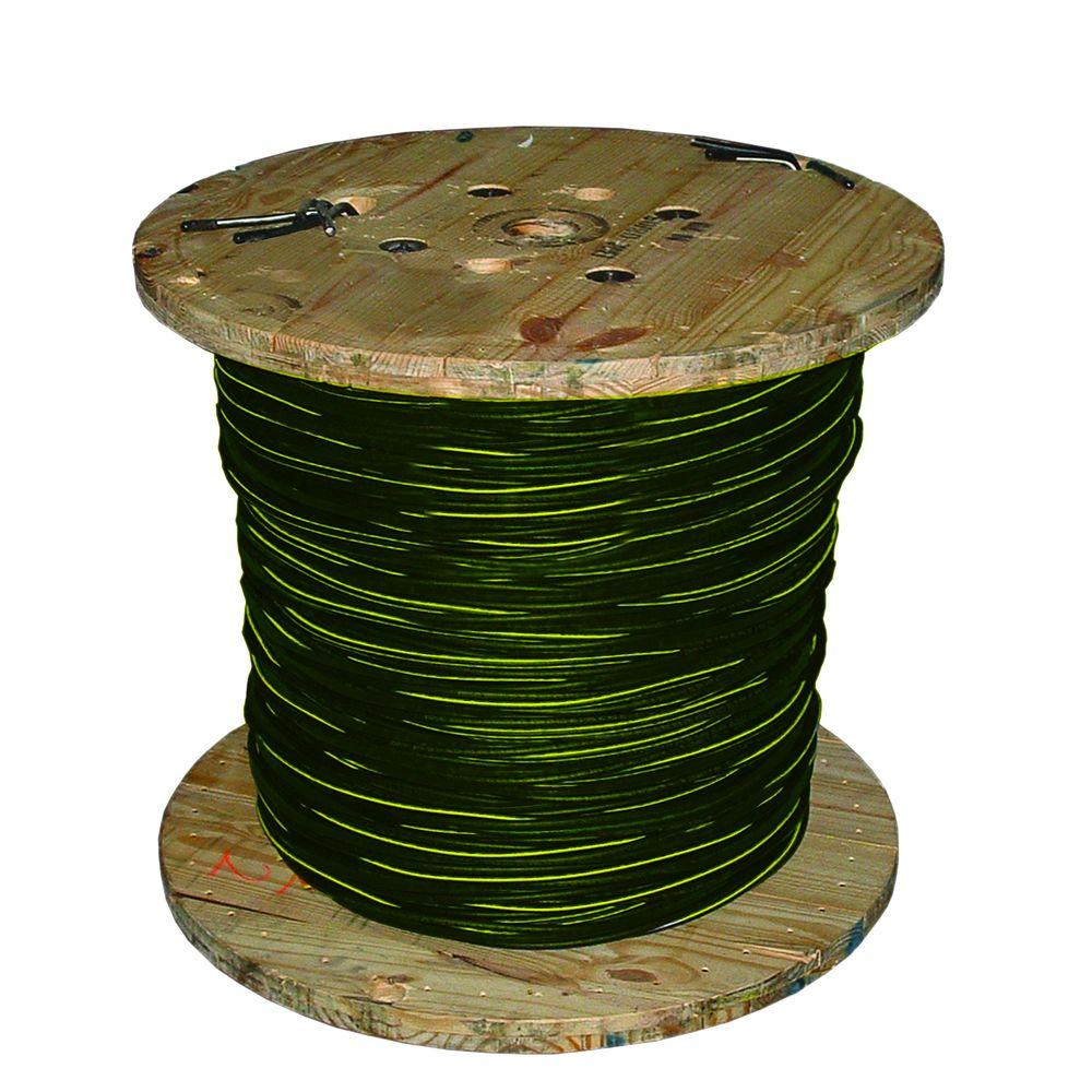 Southwire 1,000 ft. 2-2-2 Black Stranded AL Ramapo URD Cable ...