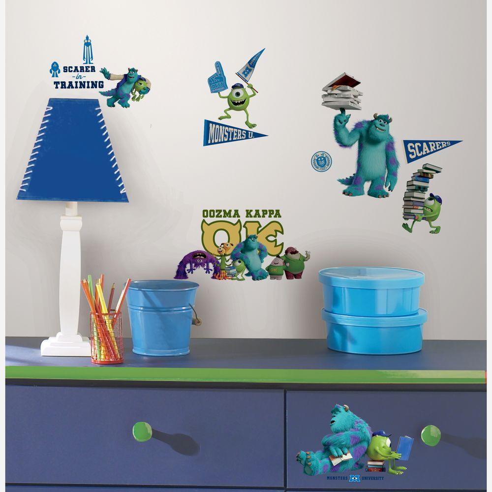Monsters University Peel and Stick 20-Piece Wall Decals-RMK2243SCS ...