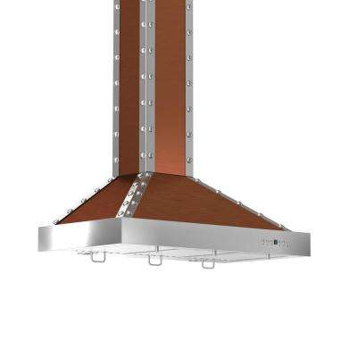 ZLINE 36 in. 760 CFM Wall Mount Range Hood with Copper and Stainless Finish