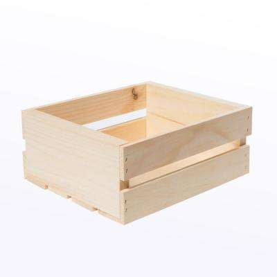11.75 in. x 9.5 in. x 4.75 in. Small Wood Crate (4- Pack)