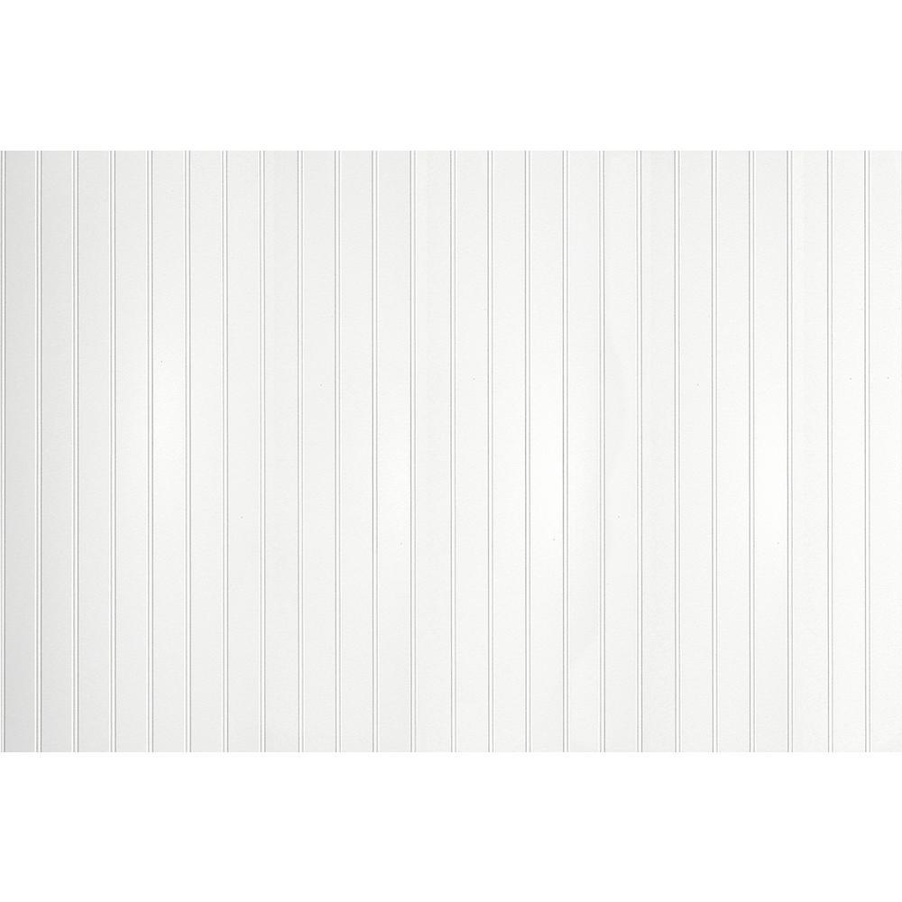 10.67 sq. ft. 3/16 in. x 48 in. x 32 in. EZ Paintable Bead Wainscot Hardboard Panel