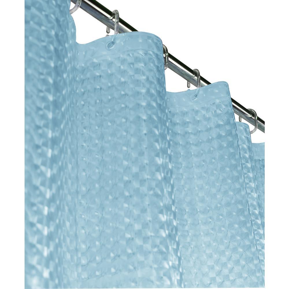 Dainty Home Mirage 72 in. Blue 3D Shower Curtain MI3DBL