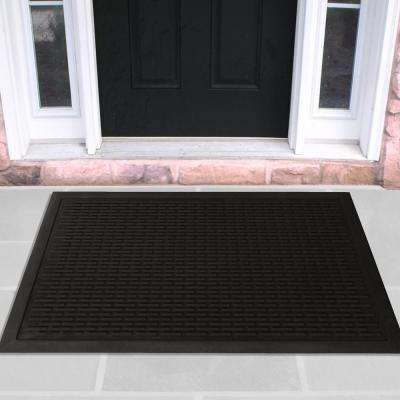 Charcoal 24 in. x 36 in. Scraping Natural Rubber Door Mat