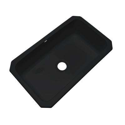 Manhattan Undermount Acrylic 33 in. Single Bowl Kitchen Sink in Black