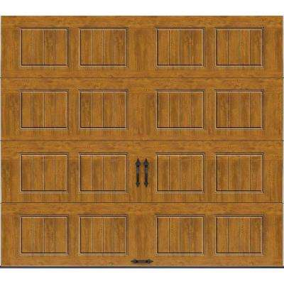 Gallery Collection 9 ft. x 8 ft. 18.4 R-Value Intellicore Insulated Solid Ultra-Grain Medium Garage Door