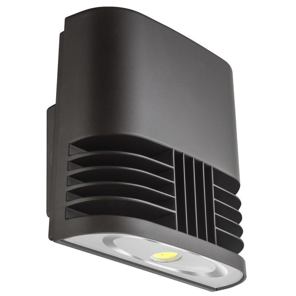 OLWX1 13-Watt Dark Bronze Low-Profile Integrated LED Wall Pack Light