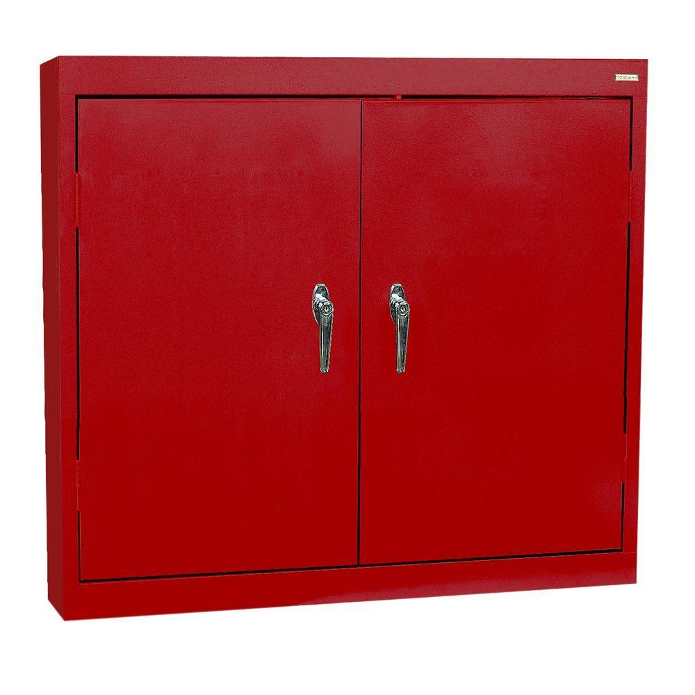 Sandusky 30 in. H x 36 in. W x 12 in. D Steel Wall Storage Cabinet ...