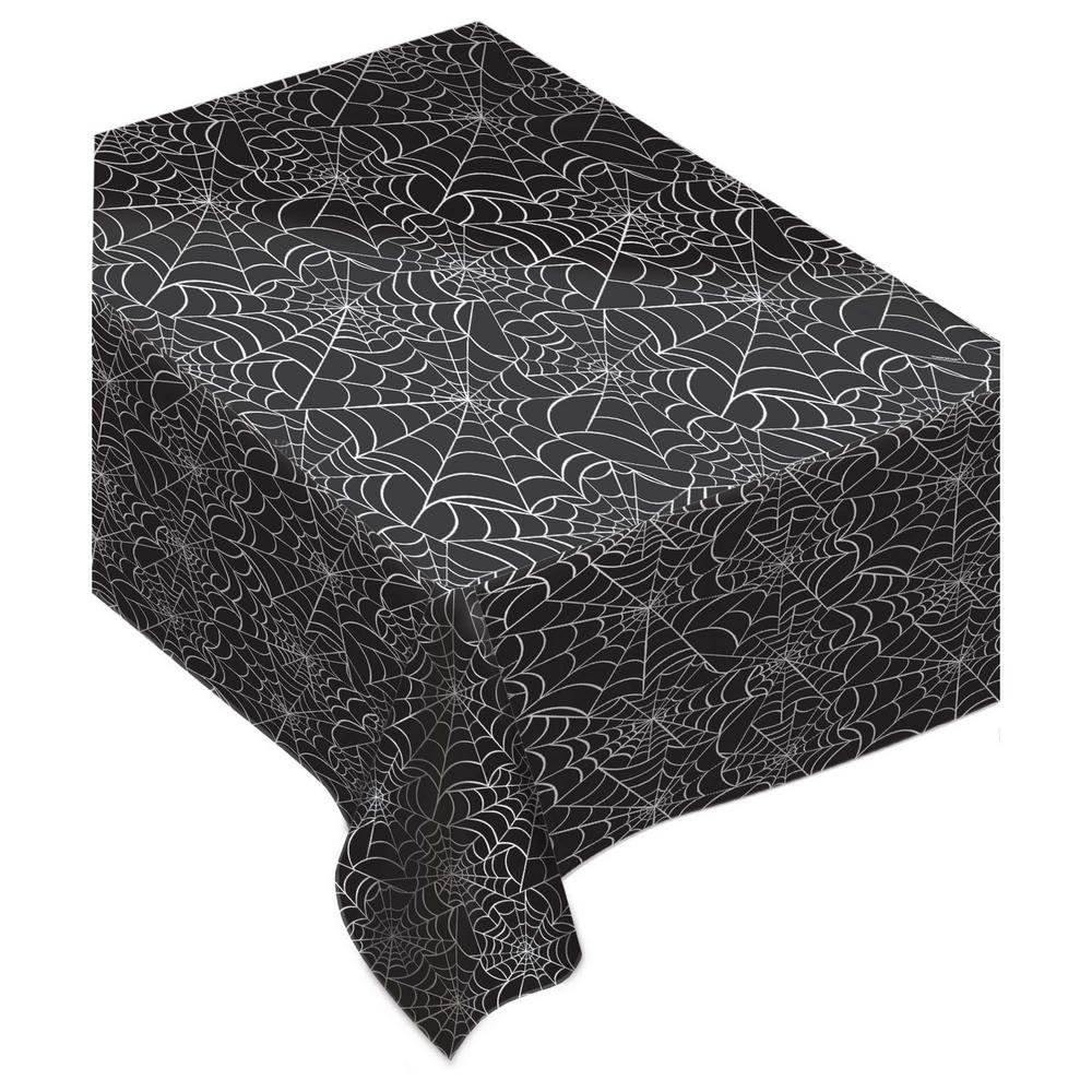 AMSCAN Spider Web Rectangular Flannel Back Table Cover (2.