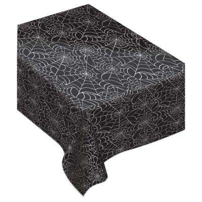 Spider Web Rectangular Flannel Back Table Cover (2-Pack)