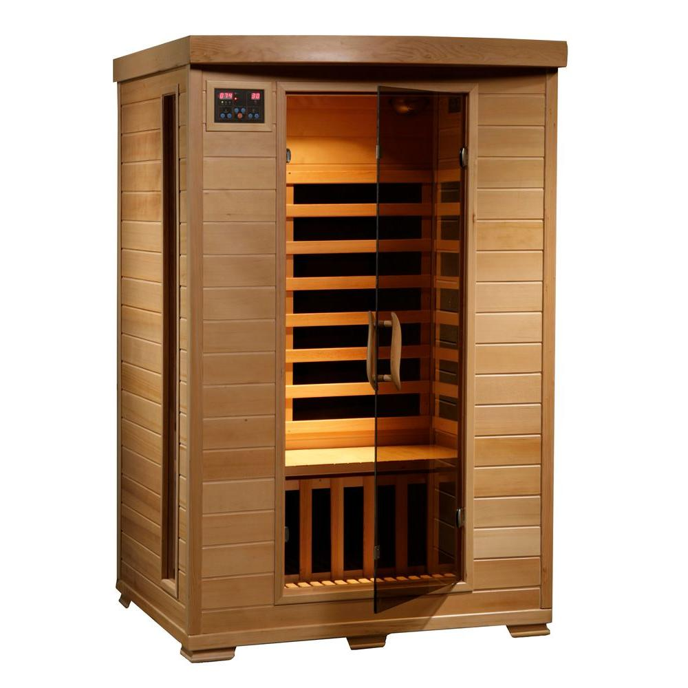Radiant Sauna 2-Person Hemlock Infrared Sauna with 6 Carbon Heaters