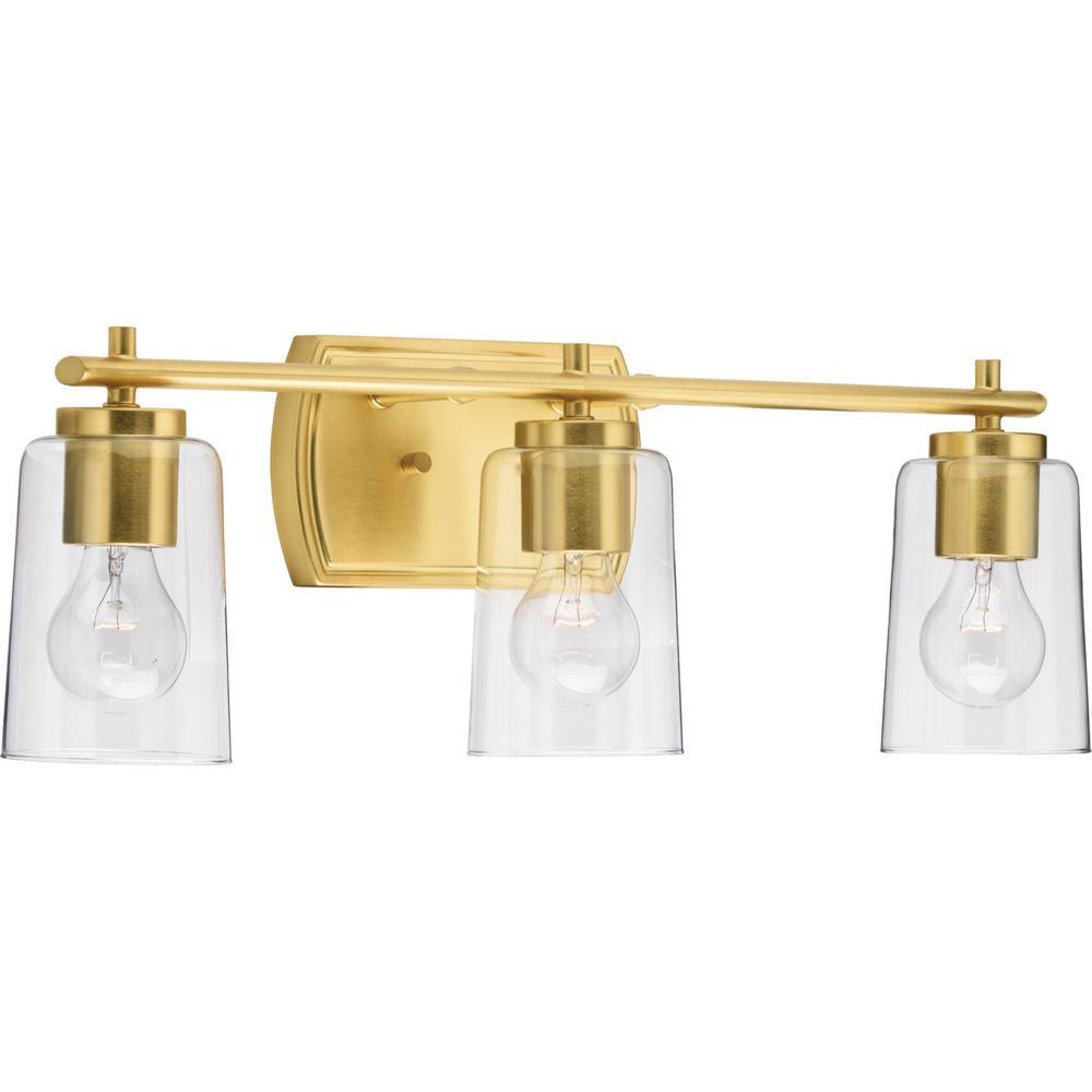 Adley 3-Light Satin Brass Bath Light