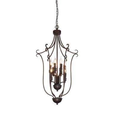 Maddy 9-Light Rubbed Brown Chandelier