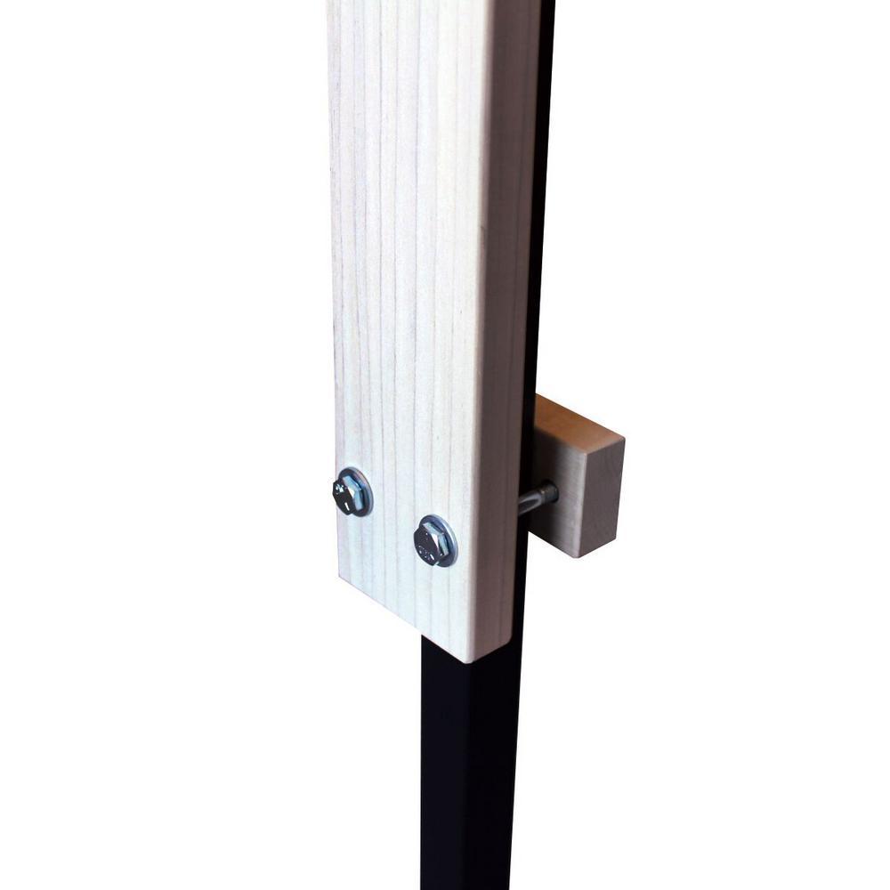 28 in. H x 3 in. W x 1 in. D Large Wrought Iron Kit for Cardinal Gates Child Safety Gates Wood