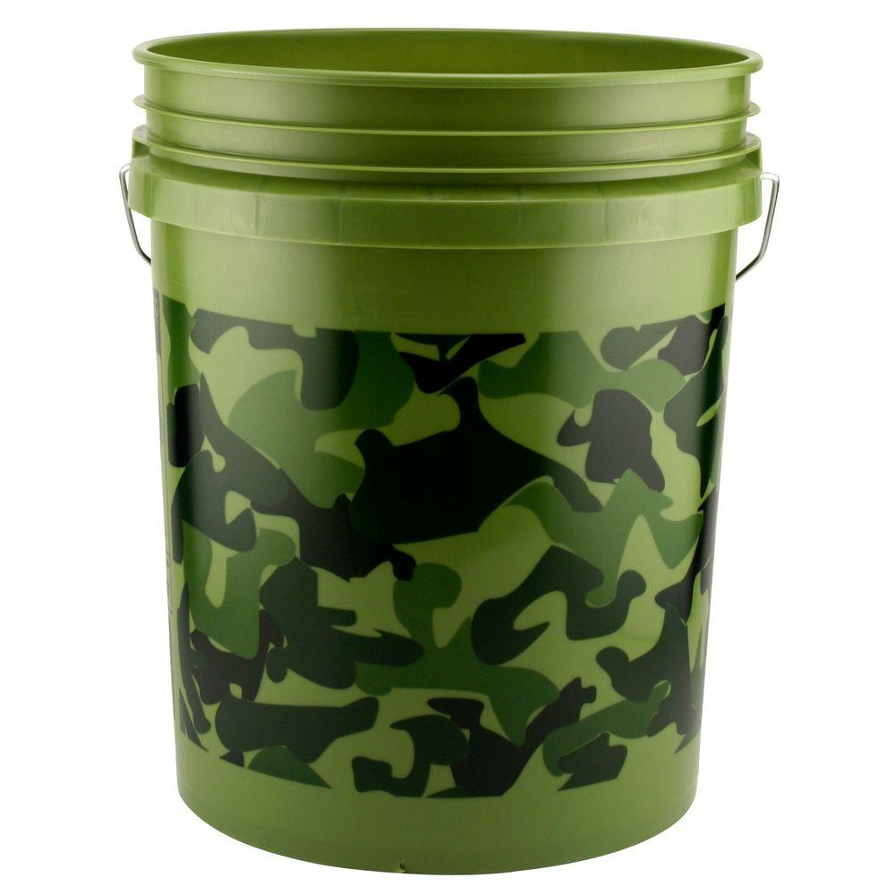 Leaktite 5 gal camo pail 05glcmo the home depot for Gardening 5 gallon bucket