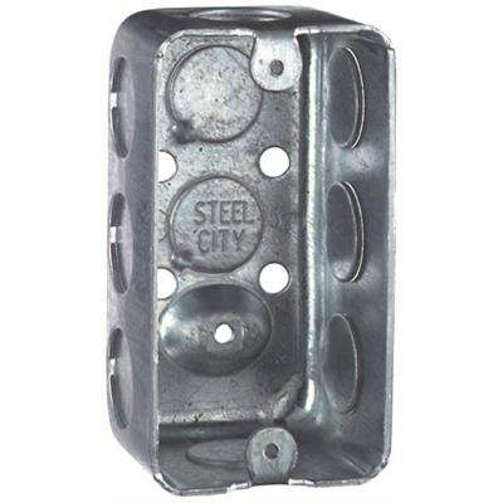 1-Gang 4 in. 2-1/8 in. Old Work Metal Handy Box (Case of 25)