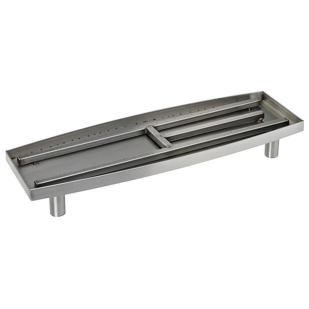 30 in. Oval Stainless Steel (Silver) Pan Burner