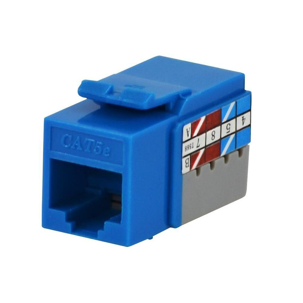 Commercial Electric Category 5e Jack - Blue