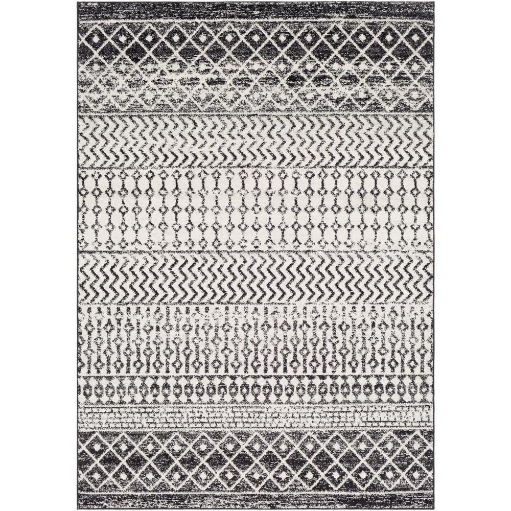 Laurine Black/White 5 ft. x 8 ft. Area Rug