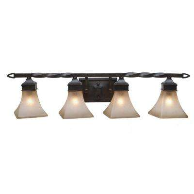 Darcy Collection 4-Light Roan Timber Bath Vanity Light