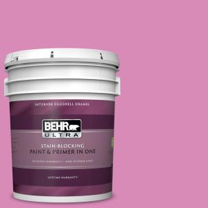 Behr Ultra 5 Gal P120 3 High Maintenance Eggshell Enamel Interior Paint And Primer In One 275405 The Home Depot