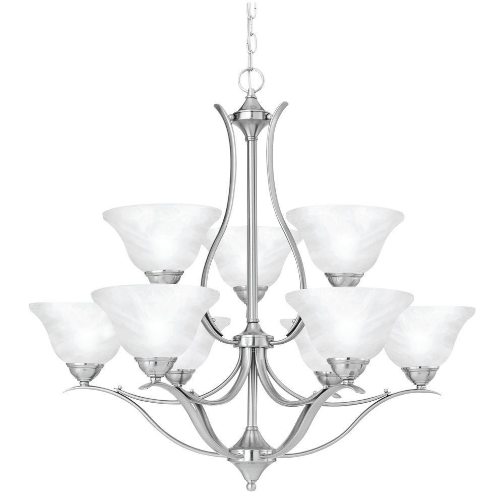 Thomas lighting prestige 9 light brushed nickel chandelier sl863978 thomas lighting prestige 9 light brushed nickel chandelier mozeypictures Gallery