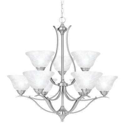Prestige 9-Light Brushed Nickel Chandelier