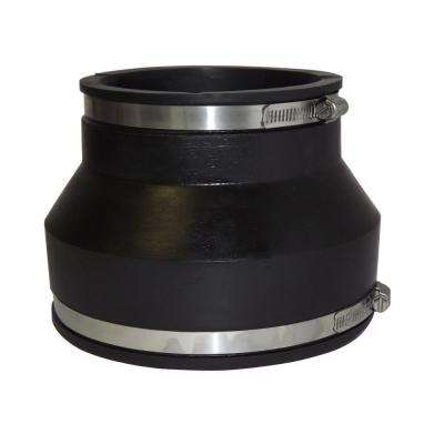 6 in. x 4 in. PVC ADS and Hancor Corrugated Pipe Flexible Coupling