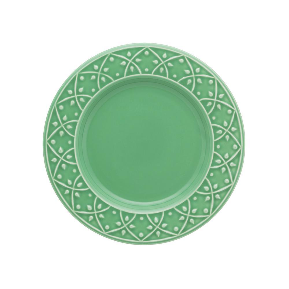 10.43 in. Mendi Green Dinner Plates (Set of 6)