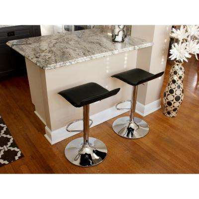 Black Adjustable Bar Stools (Set of 2)