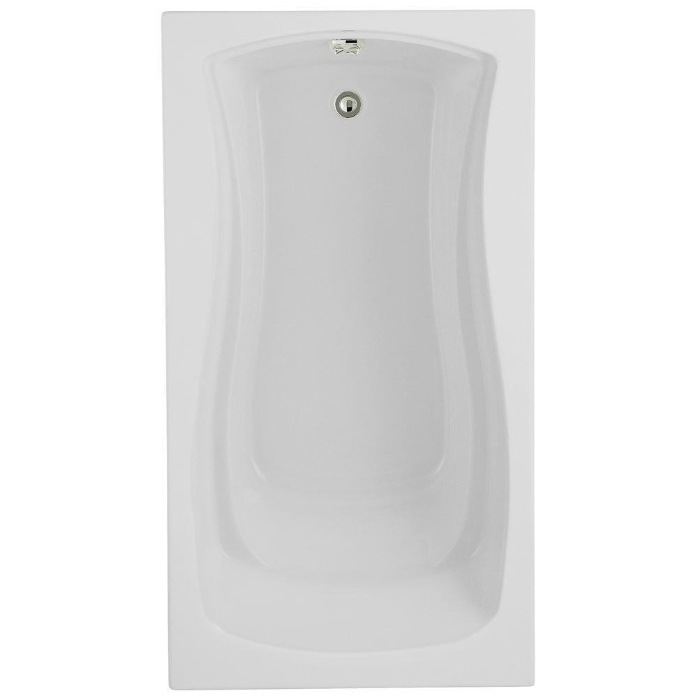KOHLER Mariposa 5.5 ft. Acrylic Rectangular Drop-in Non-Whirlpool Bathtub in White