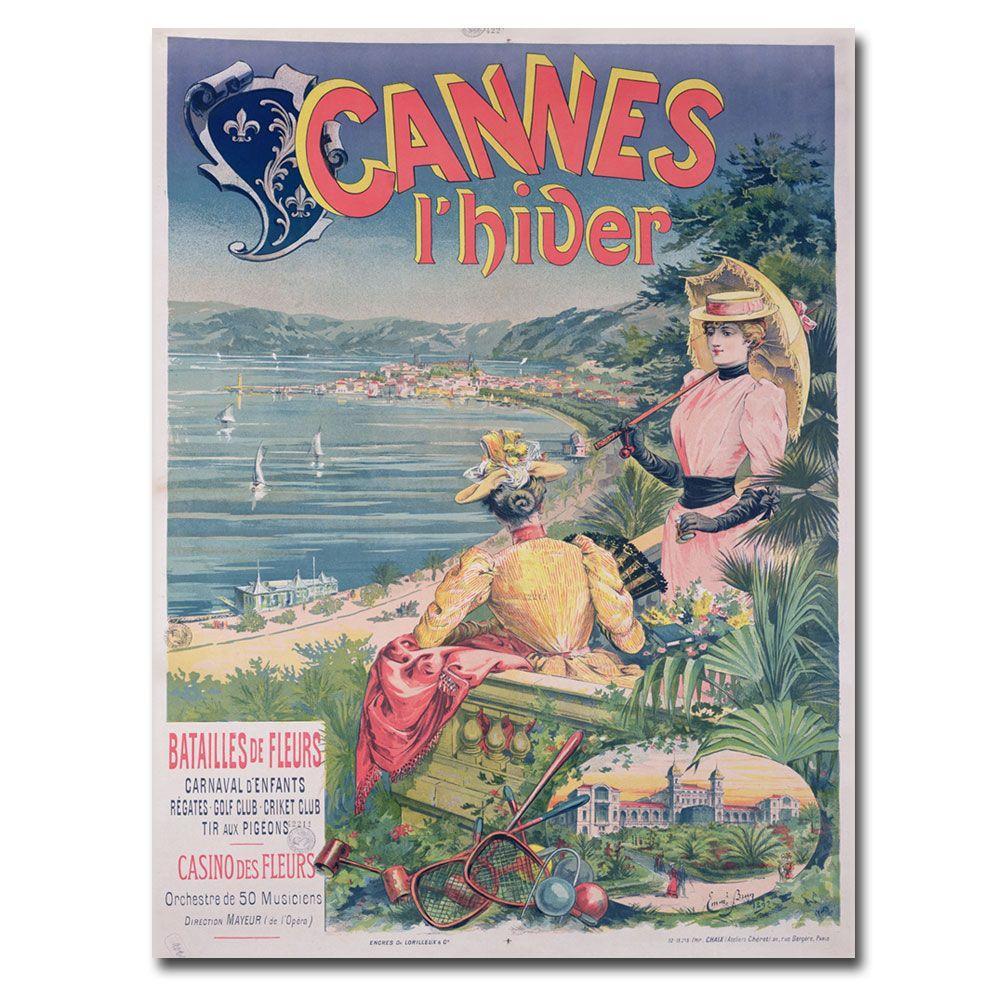 Trademark Fine Art 24 in. x 32 in. Casine des Fleurs Cannes 1892 Canvas Art
